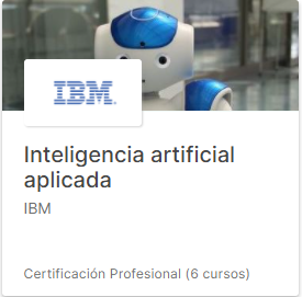 Curso Inteligencia artificial aplicada