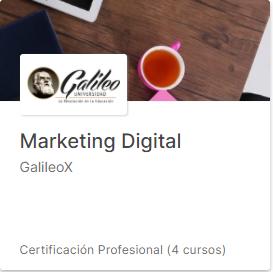Marketing Digital Certificación Profesional